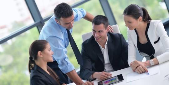 Geschäftsleute in einer Besprechung Konferenz