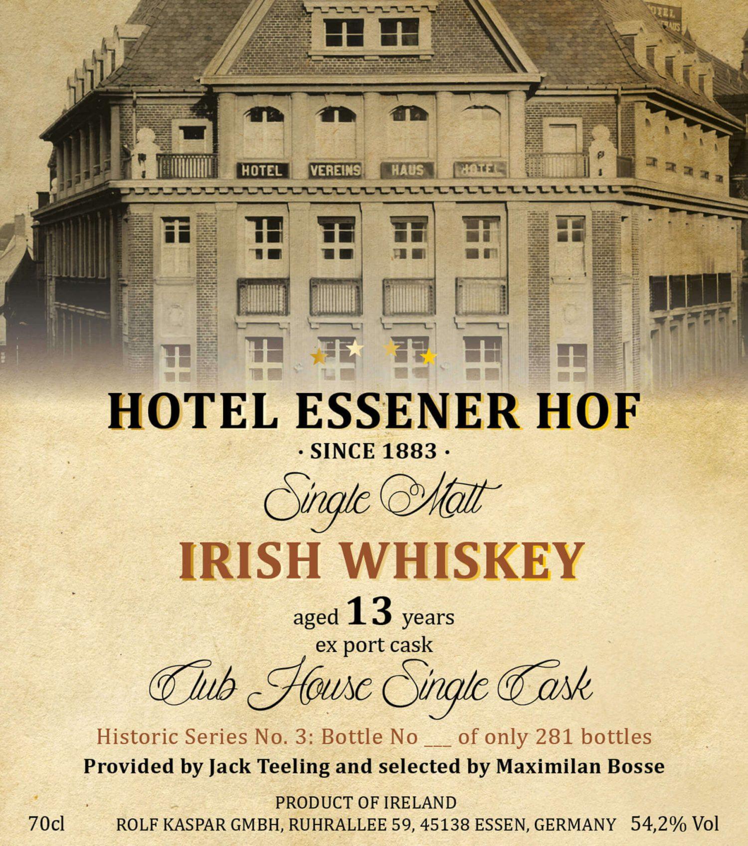Irish Whiskey Etikett