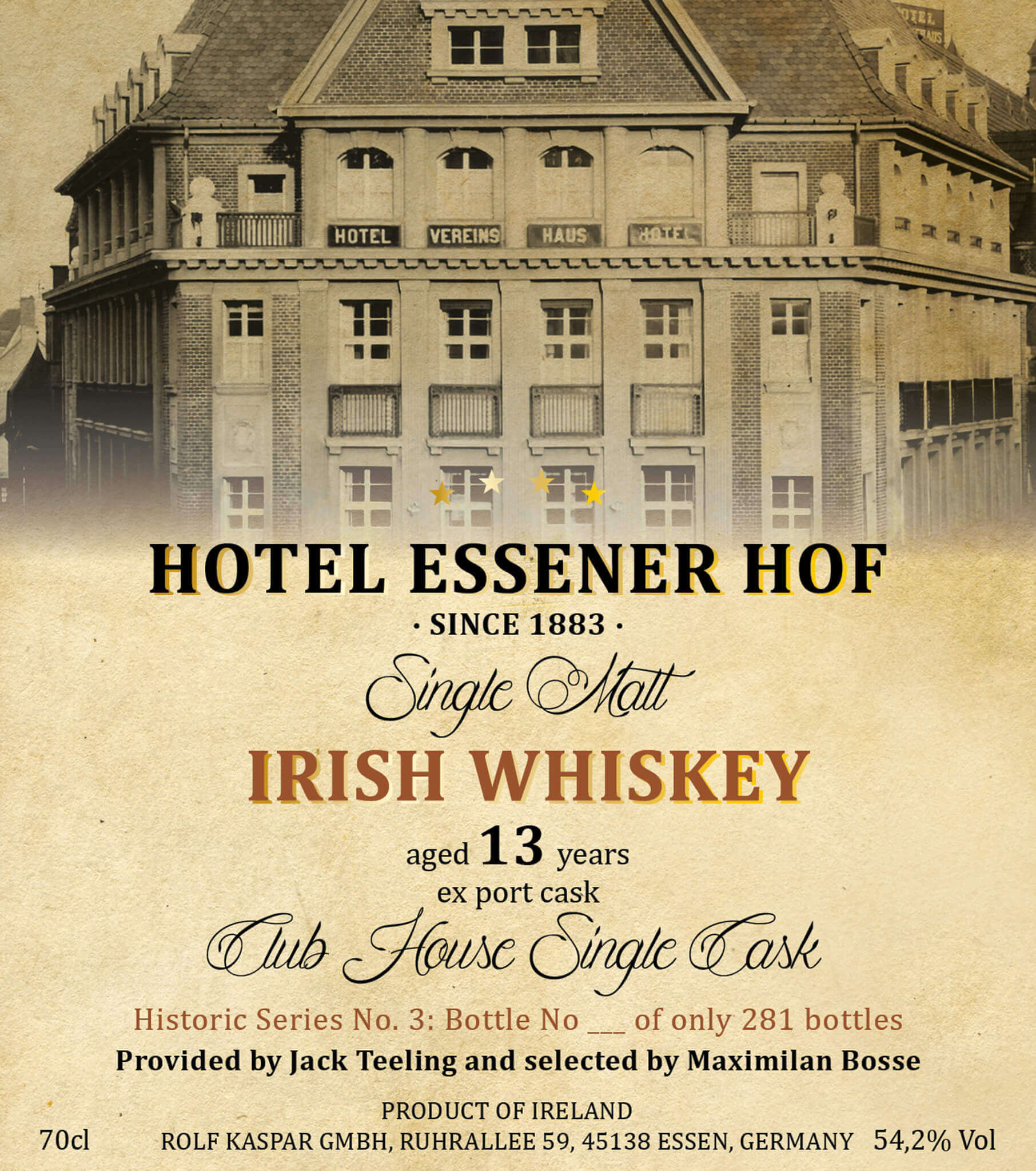 Irish Whiskey Etikett